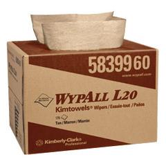"""COULEUR: TAN TAILLE: 12.5 """"x 16.8"""" WYPALL * L20 glace dans notre format de boîte de * de BRAG emploient papier multicouche pour une résistance et d'absorption pour les essuie-tout. Grande essuie-glace à usage unique pour les applications industrielles et autres légers. Natural kraft essuie couleurs respectent les lignes directrices de l'EPA pour le contenu de fibres recyclées."""