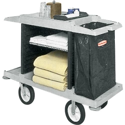 Chariot d 39 entretien pour chambre rubbermaid chariots seaux et essoreuses chariots sani for Chariot de menage rubbermaid