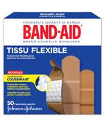 Pansements en tissu flexible, boîte de 50, formats assortis